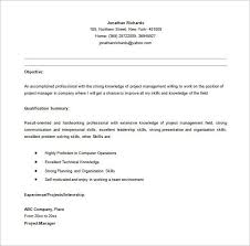 Project Manager Resume Tell The Company Or Organization Entry Level Project Manager Resume In Ms Word Senior Project In