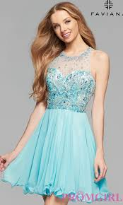 short faviana designer homecoming dress promgirl