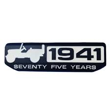 jeep wrangler logo car styling 3d metal 1941 75 year anniversary willy badge emblem