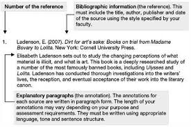 annotated bibliography example for internet source