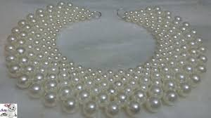pearl beads necklace images 1 how to make pearl beaded necklace diy jewellery making jpg