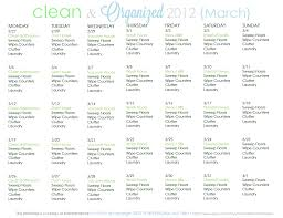 cleaning schedule archives clean mama