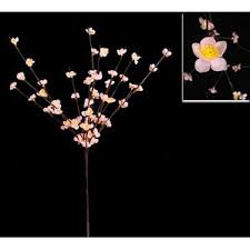 Lit Branches 100 Lighted Flower Branches Lighted Floral Swag Perfect To