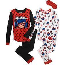 Ladybug Kitchen Decor Girls U0027 Miraculous Lady Bug 4pc Cotton Sleepwear Set Walmart Com