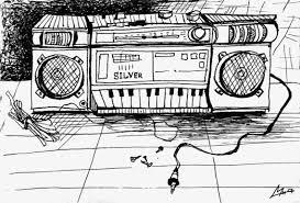 items similar to vintage radio ink drawing wall art print music