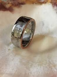 52nd wedding band handcrafted silver dollar coin ring men s wedding band 90