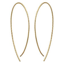 earrings in gold textured slip through hoop earring gold target