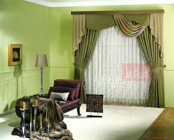 lux elegant green modern living room curtain myohomes