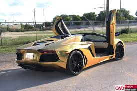 lamborghini gold miami car wraps