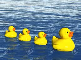 rubber duck family on the ocean stock photo picture and royalty