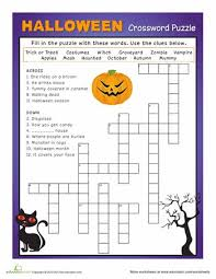 best 25 halloween crossword puzzles ideas on pinterest