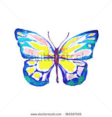 monarch butterfly all colors rainbow stock vector