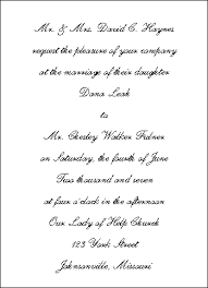traditional wedding invitation wording the wedding