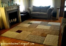 Living Room With Area Rug by A Scoop Of Sherbert Large Area Rug Diy For Under 30