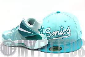 kd easter edition seattle sonics nike zoom kd iv easter matching new era fitted cap
