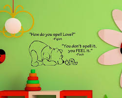 Quotes About Home Decor Amazon Com Newsee Decals How Do You Spell Love Winnie The Pooh