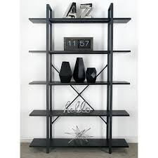 Iron And Wood Bookcase Cole U0026 Grey Wood And Metal 70