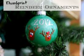 thumbprint reindeer ornaments the simple parent