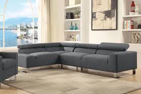 modern sectional couch grey linen