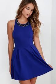 blue skater dress oasis amor fashion
