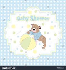 Baby Shower Invitation Card Baby Shower Invitation Card Puppy Ball Stock Vector 580671313