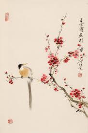 chinese plum blossom painting chinese bird painting