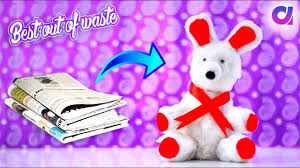 how to make teddy bear from news paper newspaper craft best