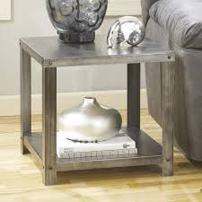 Ashley Furniture Bedroom End Tables Signature Design By Ashley Hattney Square Industrial Metal End