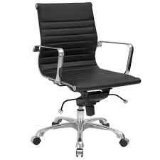 Office Chairs Classic Modern Low Back Office Chair Black