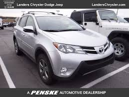 toyota jeep 2015 2015 used toyota rav4 4dr fwd xle at landers chevrolet serving
