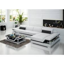 canapé d angle blanc et noir canapé d angle en cuir pop design fr