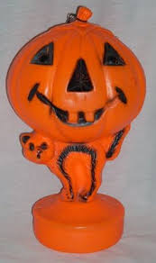 Vintage 1969 Empire Blow Mold Lighted Halloween Pumpkin Jack O
