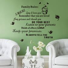 large family quotes wall stickers rules wall decals vinyl stickers