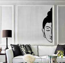 Vinyl Wall Stickers Vinyl Wall Decal Buddha Face Buddhism Decoration Room Stickers
