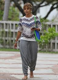 casual for 50 year up free halle berry covers up in baggy clothes in la daily