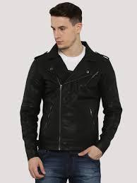 buy biker jacket buy faux leather biker jacket for men men s black jackets online