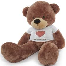 engraved teddy bears 6ft personalized teddy in personalized heart shirt