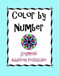 line segments segment addition postulate coloring activity 1
