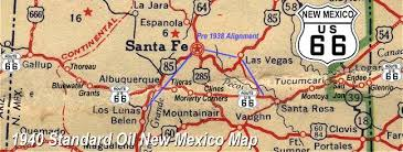 map us highway route 66 new mexico route 66