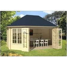 bureau de jardin en kit chalet de jardin en bois 18m2 359x522cm gudrun kit bureau 20m2