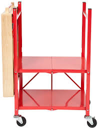 amazon com origami rbt 06 foldable kitchen island cart red home