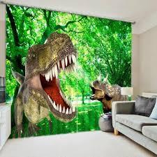 chambre dinosaure rideaux dinosaure féroce 3d effect l ombrage 118 w 106 l 300 270cm