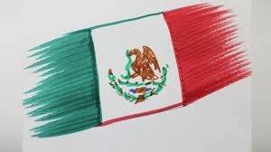 how to draw the flag of mexico youtube