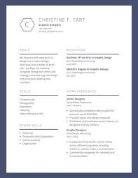 blue bordered graphic design resume templates by canva
