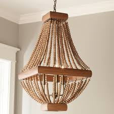 bead chandelier classic wood bead chandelier shades of light