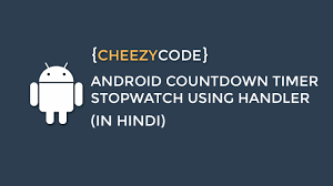 android countdown timer tutorial android handler timer with