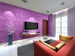 easy design living room decoration with purple with curved