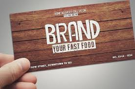 fast food gift cards fast food restaurant gift card card templates creative market