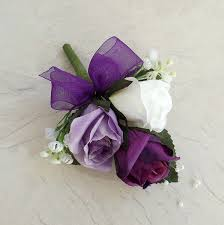 purple corsage artificial buttonholes purple silk corsage wedding