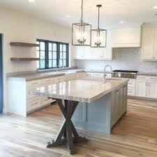 kitchen island idea white shaker waypoint cabinets designed by nathan hoffman wonder